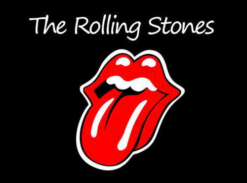 Logo band The Rolling Stone (source : artfire.com)