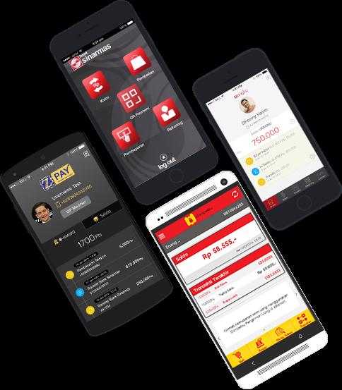 Aplikasi Mobile untuk menggunakan solusi Pay by QR (source : dimo.co.id)