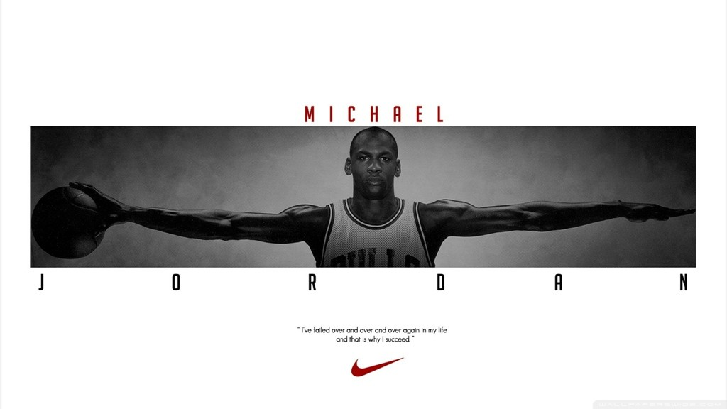 Michael Jordan dengan Nike (source : wallpaperscraft.com)